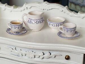 Dollhouse Miniature Artisan Stokesay Ware Porcelain RARE Nursery Lot #1 1:12