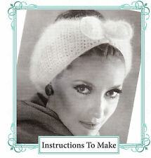 Vintage Crochet Pattern- how to make this chic 1950s winter ear warmer bow hat