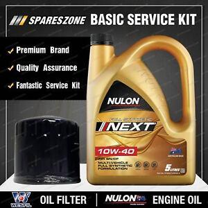 Wesfil Oil Filter + Nulon 5L SYNNXT10W40 Oil Kit for Peugeot 407 SV 3.0L V6