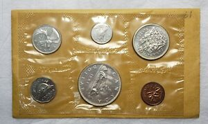 1961 Canada Proof Like Silver Uncirculated Mint Set