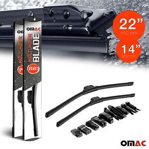 "OMAC Premium Wiper Blades 14"" & 22'' Combo Pack for Nissan Juke 2011-2021"