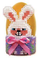 RIOLIS 1531AC Anello portatovagliolo Bunny Kit Per Ricamo su tela plastique