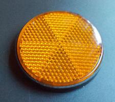 Reflektor Katzenauge Runder Kunstoff-Reflektor selbstklebend orange