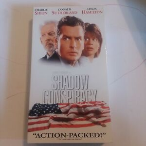 Shadow Conspiracy VHS Tape Charlie Sheen Vintage Movie Government Linda Hamilton