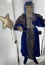 marionette Katze Fee Zauberin Blau 80 cm