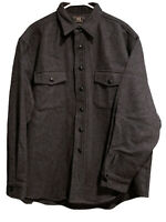 RRL Ralph Lauren Oversized Wool Charcoal Gray Shirt Jacket Coat Men X-Large XL