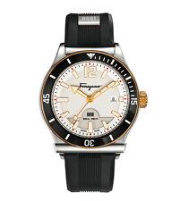 Ferragamo Men's FF3110014 FERRAGAMO 1898 SPORT Luminous Black Rubber Date Watch