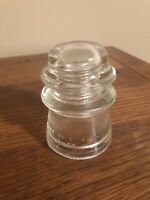 HEMINGRAY 17 CLEAR ELECTRICAL GLASS INSULATOR Vintage Paper weight collectible