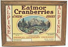 Wall Decor Eatmor Cranberries of New Jersey Famed Advertising Sign Print.