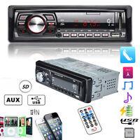 Bluetooth Car In-Dash Stereo Audio FM Aux Input Receiver SD USB MP3 Radio Player