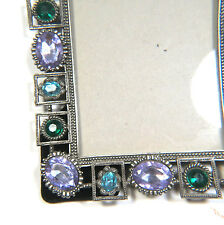 Rhinestone Acrylic Metal Photo Frame 6x8 Oblong