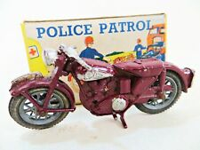 BENBROS QUALITOY 'POLICE PATROL MOTORCYCLE/MOTORBIKE'. VINTAGE. EXCELLENT/BOXED.