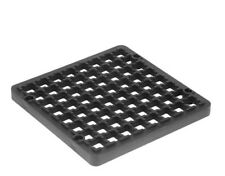 """STANDARD SIZE 6"""" BLACK DRAIN COVER 150mm SQUARE Grid Drainage Cover Top Lid"""