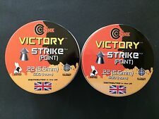 1,000. .22 SMK VICTORY STRIKE (POINTED) AIR RIFLE/ PISTOL PELLETS..