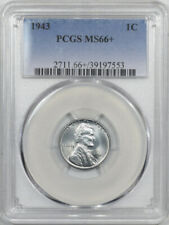 1943 LINCOLN CENT - PCGS MS-66+
