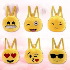 Mochila Emoji Ronda Felpa Cartera Niña Niño Escuela Peluche Hombro Bandolera