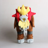 "Official 11"" 27Cm Entei Pokemon Licensed Plush Toys Soft Stuffed Animal Dolls"