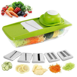 9 in 1 Mandolin Vegetable Food Slicer Julienne and Container - Peel Cut Slice