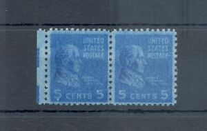 USA 1938 - 5 Cent. pair -soft / full ink print --** MNH VF