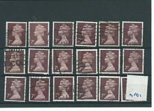 GB - WHOLESALE - MACHIN DEFINITIVES - MA161. 7p PURPLE BROWN - 18  COPIES - USED