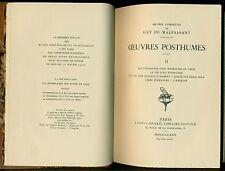 MAUPASSANT Guy de, Oeuvres posthumes.Volume II. Louis Conard, 1930