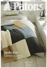 VAT Free PATTERN ONLY Patons Knitting & Crochet Blankets Apollo Aran New 3870