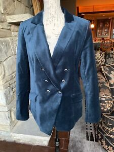 White House Black Market Velvet Trophy Jacket River Dark Blue Blazer 12 jacket