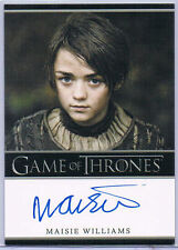 Maisie Williams ++ Autogramm ++ Game of Thrones ++ Gold ++ Autograph