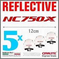 5x NC750X red HONDA MOTO ADESIVI PEGATINA STICKERS AUTOCOLLANT helmet casco