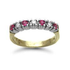 Very Good Cut Gold Ruby Fine Diamond Rings