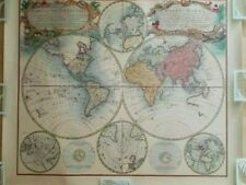 VINTAGE MAPPE MONDE PRINT BY LEISURE ARTS