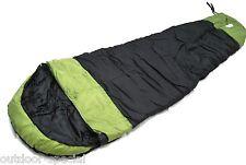 mount1600 Mumienschlafsack 230 cm Schlafsack -13,5 °C Wärmekragen schwarz grün