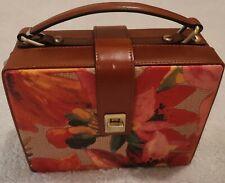 New ListingPatricia Nash Tauria Spring Multi Straw/ Leather Box Handbag Tote Crossbody