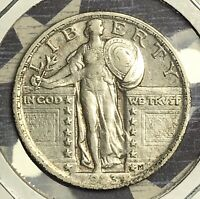 1923 STANDING LIBERTY SILVER QUARTER COLLECTOR COIN. FREE SHIPPING