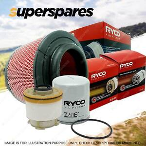 Ryco Oil Air Fuel Filter Service Kit for Toyota Hilux KUN16 KUN26 04/2005-On
