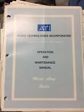 Ati Micro Amp Series M1000 Precision Dual Mic Amp Owners Manual M 1000