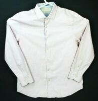 Men's Tommy Bahama Island Modern Fit Pink / Gray Button Up Shirt Size Large