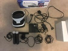 Playstation VR PSVR Bundle Gen 1 w/ Move Controllers, Camera, and Power Adapter