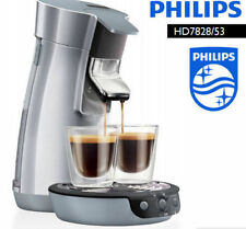PHILIPS POD six Viva Cafe coffee machine HD7828/53 / Allows manual brew / silver