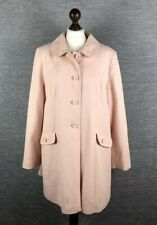 New George Womens Coat Size 18 Uk Cotton Check Pale Pink Salmon