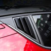ABS Matte Black Rear Window Louver Shutter Cover 2pcs For Toyota C-HR 2016-2020