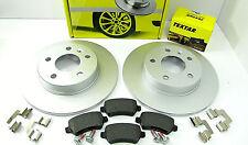 TEXTAR Komplett 92092103 2x Bremsscheiben 4x Bremsbeläge Hinten OPEL Astra G H