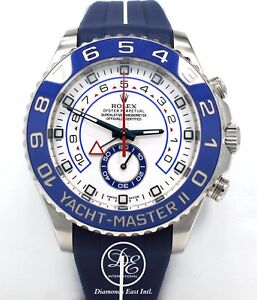Rolex Yacht Master II 116680 44mm Steel Oyster & RUBBER B Watch *MINT CONDITION