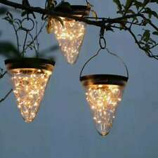 50 LED Solar Powered Hanging Light Lamp Bulbs Outdoor Patio Garden Yard Decor