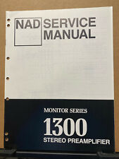 Original Service Manual for the NAD 1300 Preamplifier ~ Repair