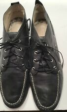Sperry Top Sider Navy Blue Leather Ankle Boots Women's 9.5 M Ankle Boat Shoes