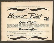 VINTAGE AD MUNSEY'S MAGAZINE - HAMMAR PAINT, BELMAR SUIT & SKIRT HOLDER....