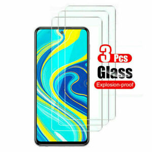 3PCS Tempered Glass Screen Protector For Xiaomi Redmi Note 9S 9 8 8T 7 6 5 Pro N