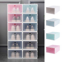 Plastic Wholesale Clear Shoe Boots Boxes Storage Organizer Stackable Box Tidy