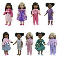 Lot 6pcs Various Dress 14.5 inch Doll Clothes for 18 inch Wellie Girl Dolls Gift